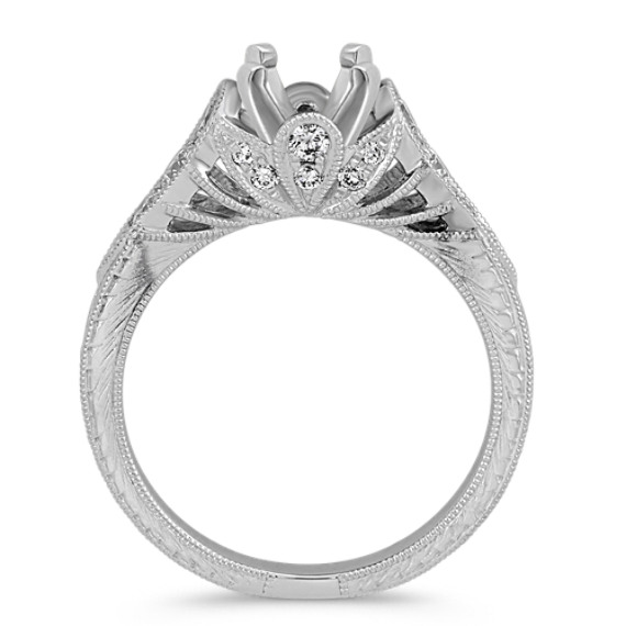 Vintage Cathedral Engagement Ring in Platinum image