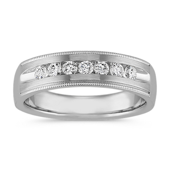 Vintage Channel-Set Ring in 14k White Gold (6mm)