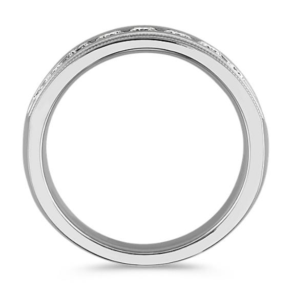Vintage Channel-Set Ring in 14k White Gold (7mm) image