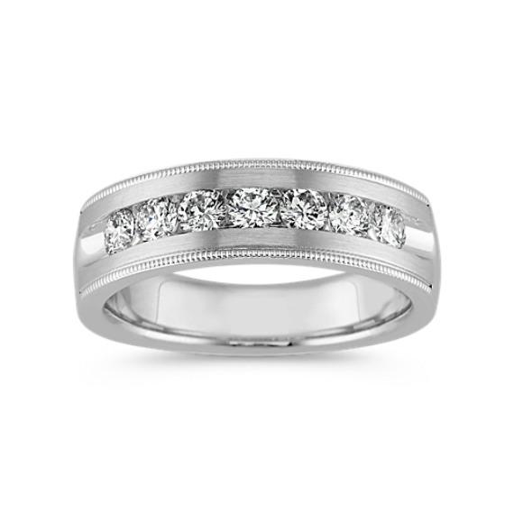 Vintage Channel-Set Ring in 14k White Gold (7mm)