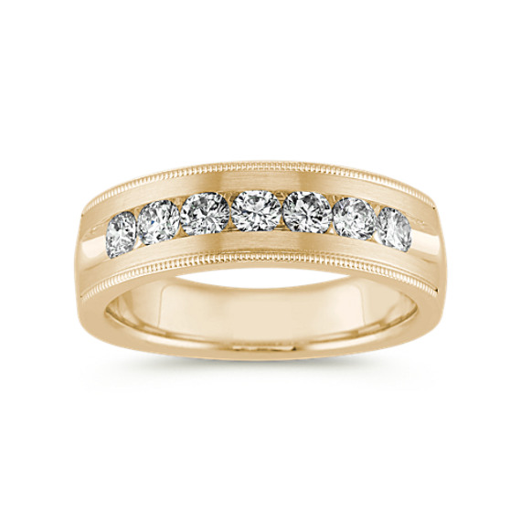 Vintage Channel-Set Ring in 14k Yellow Gold (7mm)