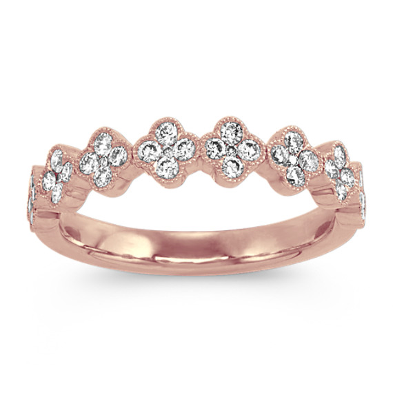 Vintage Diamond Cluster Ring in 14k Rose Gold