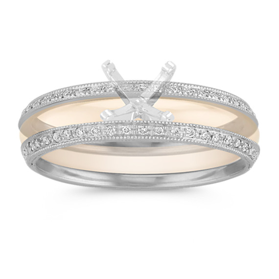 Vintage Diamond Double Wedding Band
