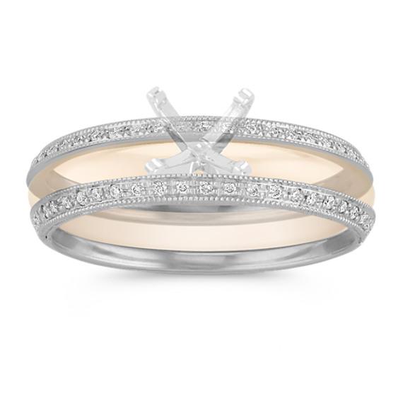 Vintage Diamond Double Wedding Bands