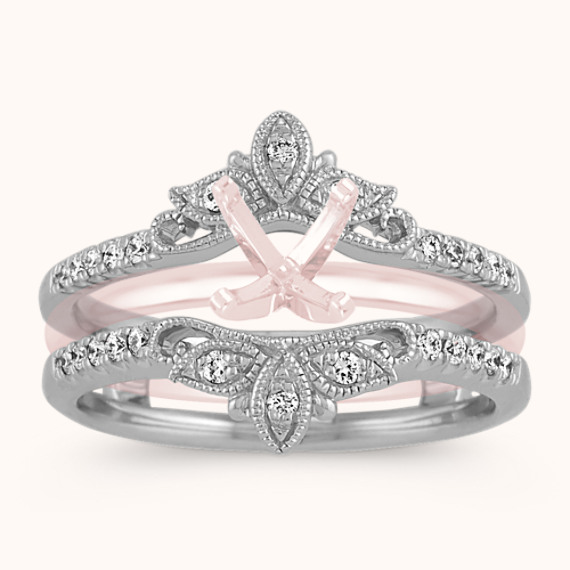 Floral Diamond Ring Guard Shane Co