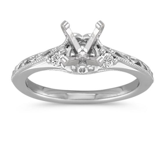 Vintage Diamond Engagement Ring with Filigree Detail