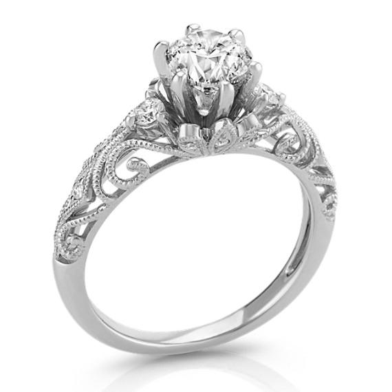 Vintage Diamond Engagement Ring Shane Co