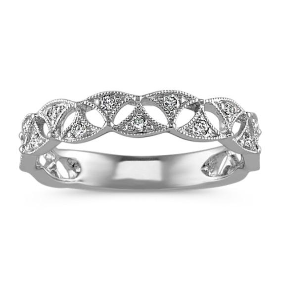 Vintage Diamond Fashion Ring in 14k White Gold