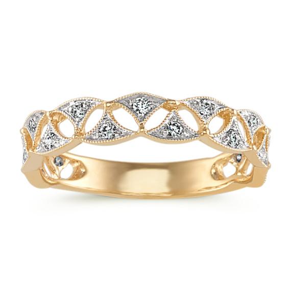 Vintage Diamond Fashion Ring in 14k Yellow Gold
