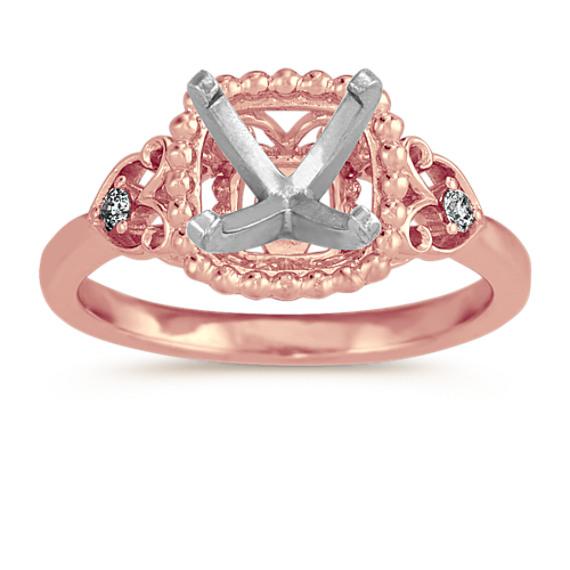 Vintage Diamond Ring in 14k Rose Gold