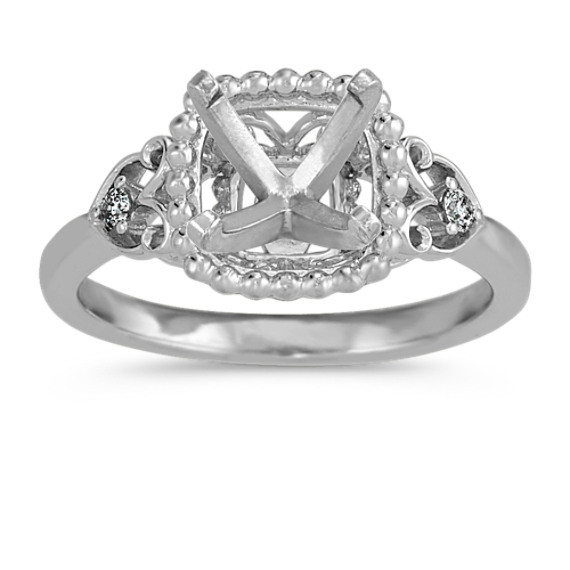 Vintage Diamond Ring in 14k White Gold
