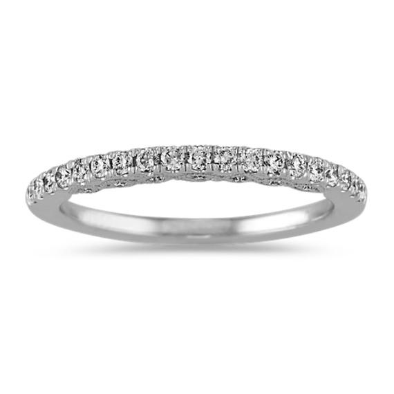 Vintage Diamond Wedding Band in Platinum