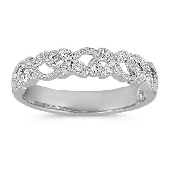 Vintage diamond wedding band — 13