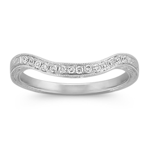 Vintage Engraved Diamond Contour Band