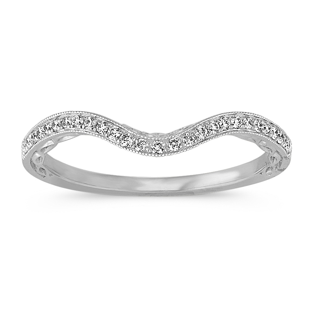 custom diamond women contour in band wedding nl rings bands white jewelry wg curved gold with