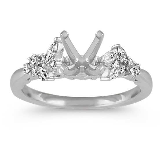Vintage Marquise and Round Diamond Engagement Ring