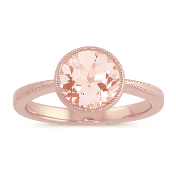 Vintage Morganite Ring in 14k Rose Gold