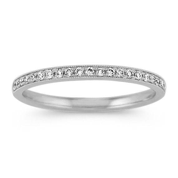 Vintage Pave-Set Diamond Band