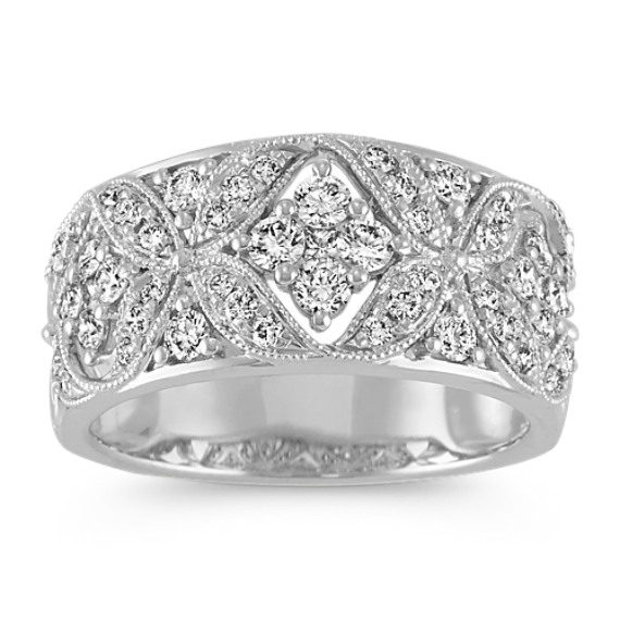 Vintage Princess Cut and Round Diamond Ring