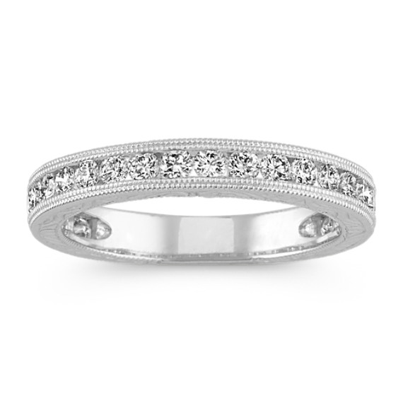 Vintage Round Diamond Wedding Band