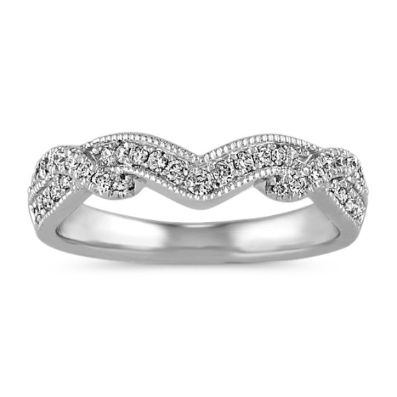 Vintage Swirl Diamond Wedding Band