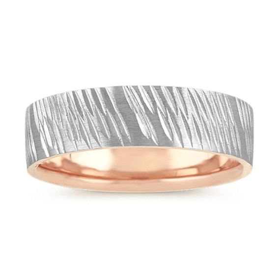 Wedding Band in 14k White and Rose Gold (7mm)