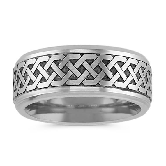 Engraved Cobalt Ring (9mm)