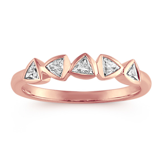 Stackable Trillion Diamond Ring