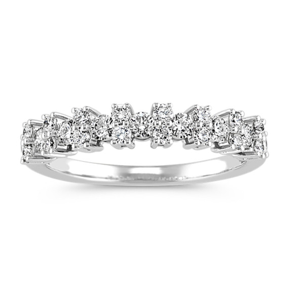 Pave-Set Round Diamond Wedding Band