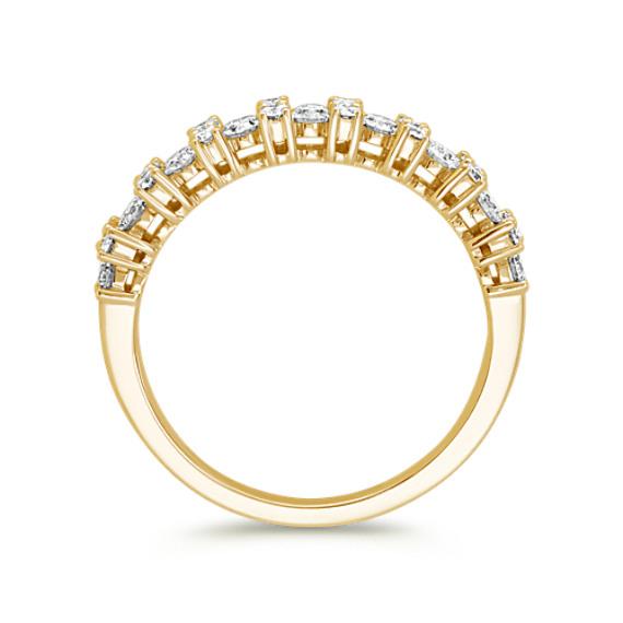 Pavé-Set Round Diamond Wedding Band image