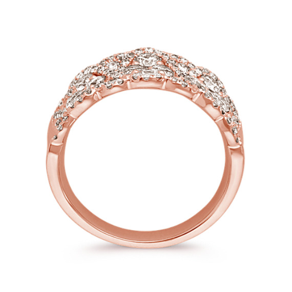 Contemporary Round Diamond Ring in 14k Rose Gold image