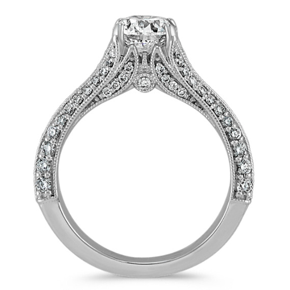 Pave-Set Diamond Engagement Ring image