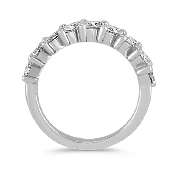 Marquise Diamond Wedding Band in 14k White Gold image