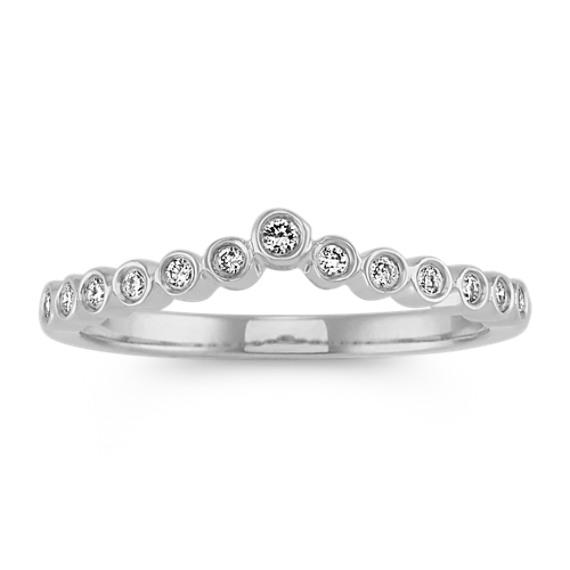 Contour Diamond Ring in 14k White Gold