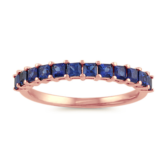 Princess Cut Traditional Blue Sapphire Ring