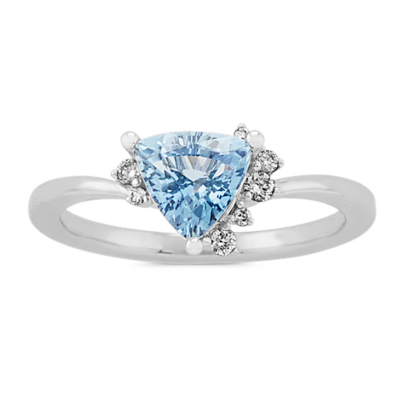 Moonlight Trillion Sapphire and Diamond Ring