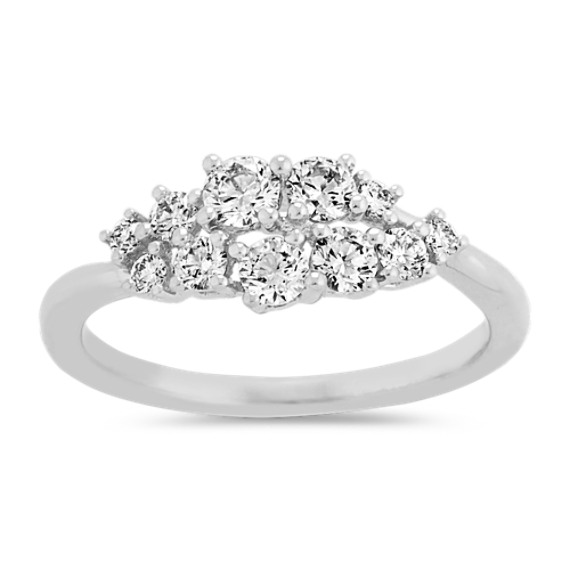 Diamond Cluster Ring in 14k White Gold