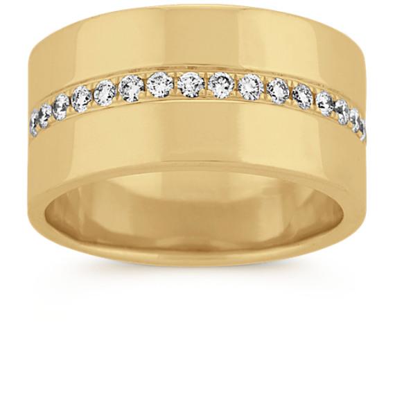 Pave-Set Diamond Ring in 14k Yellow Gold