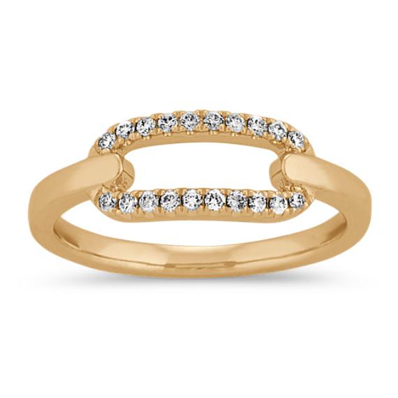 Diamond Link Ring in 14k Yellow Gold