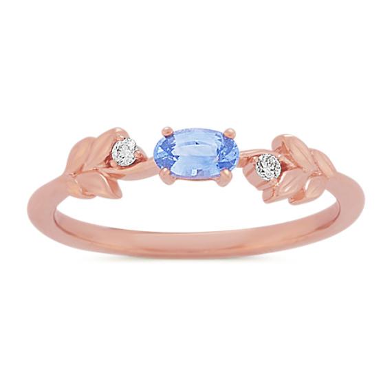Laurel Ice Blue Sapphire and Diamond Ring