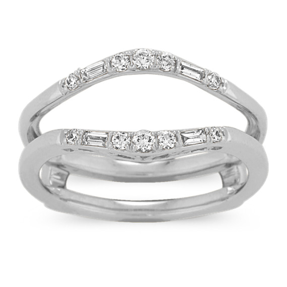 Baguette and Round Diamond Engagement Ring Guard