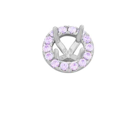 Classic Lavender Sapphire Halo Decorative Crown