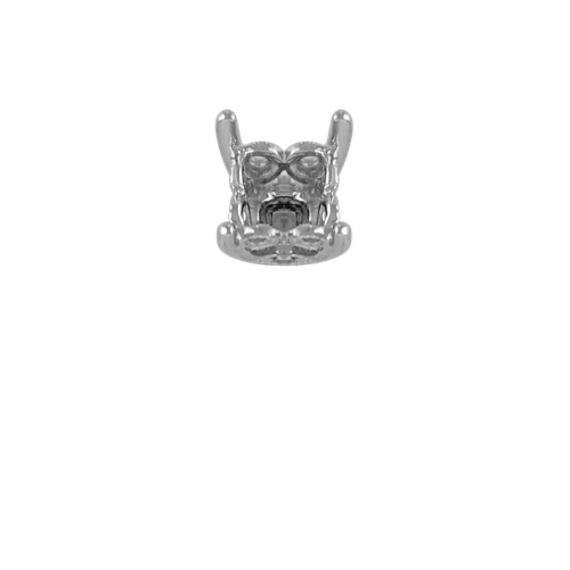 Tatiana Decorative Crown to Hold .50 ct. Princess Cut Stone