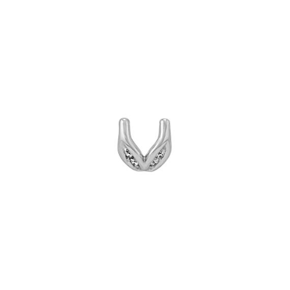 Diamond Fantasy Decorative Crown To Hold .75 ct. Round Gemstone