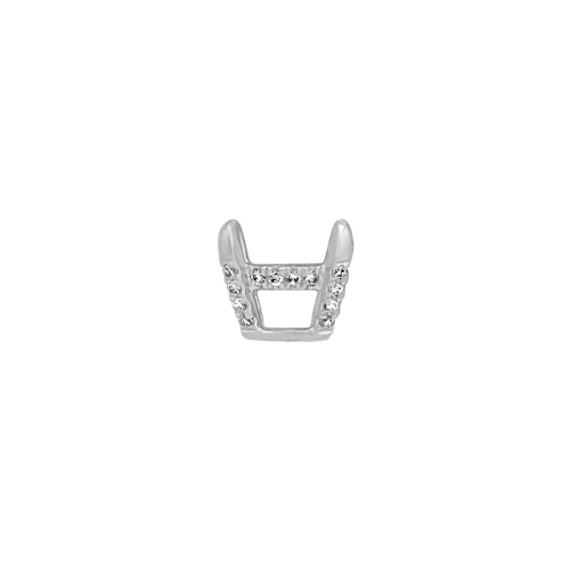 Diamond Decorative Crown for 1ct. Oval Gemstone