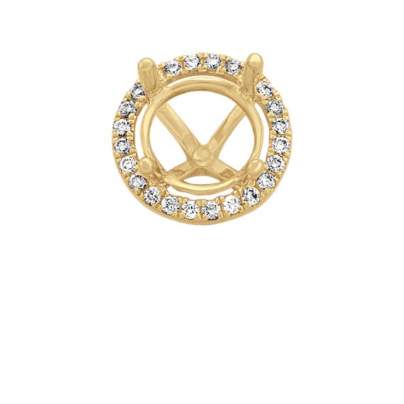 Diamond Decorative Crown for 2.00 ct. Round Gemstone
