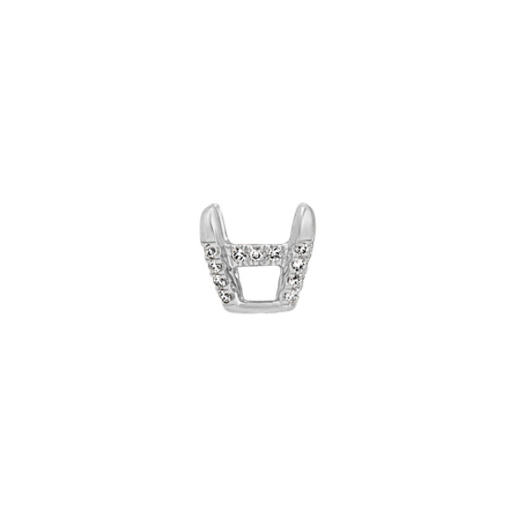 Diamond Accent Decorative Crown for 1.50 ct. Oval Gemstone