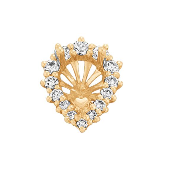 Diamond Encrusted Pear Halo Decorative Crown