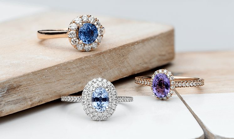 Engagement Rings with Colorful Sapphires