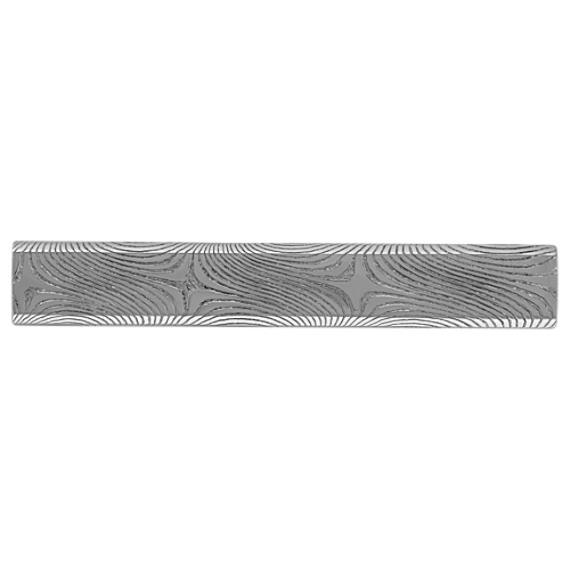 Damascus Steel Tie Clip